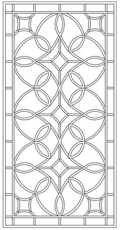 Tableaux® custom-designs and manufactures Decorative Grilles to your project specs. Stencil Patterns, Pattern Art, Pattern Design, Stained Glass Designs, Stained Glass Patterns, Mosaic Glass, Glass Art, Motif Arabesque, Cnc Cutting Design