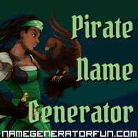 The Pirate Name Generator: Allow a random name generator help you pick the perfect pirate name, matey.