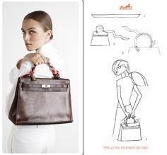 nouer foulard look femme élégante blog mode Paris Soyons élégantes…