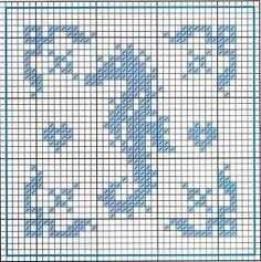 Sea horse cross stitch  chart