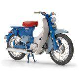 Ebbro 1:10 Scale Honda Supercub Blue Diecast Model Ebbro has released a 1/10 replica of the 1958 Honda C100 Super Cub in blue. (Barcode EAN = 4526175100018). http://www.comparestoreprices.co.uk/kids-bikes-