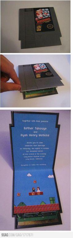 Mario wedding invitations... So cool!
