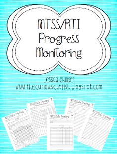 Free MTSS/RTI progress monitoring pages for Tier 1, Tier 2, and Tier 3 students!