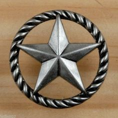 Details about Texas Knobs Texas Star Cabinet Hardware Knob ...