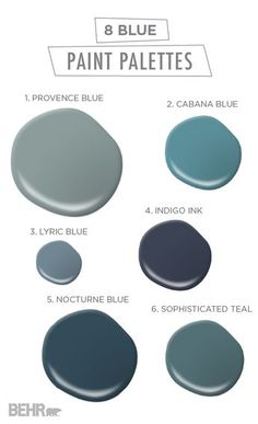 These 8 blue paint palettes will have you feeling anything but sad. With shades like Sophisticated Teal, Indigo Ink, and Cabana Blue, any space of your home could use a fresh coat of one of these timeless hues.