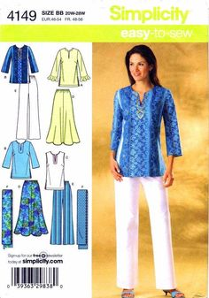 simplicity patterns tunics | Plus Size Sewing Patterns