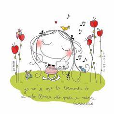 Painting Of Girl, Painting For Kids, Art For Kids, Girl Cartoon, Cute Cartoon, Envelope Art, Quilt Binding, Happy Paintings, Love Illustration