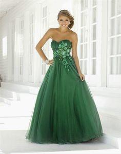 Espectaculares vestidos de novias | Moda color verde
