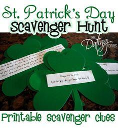 St. Patty's Day Scavenger Hunt