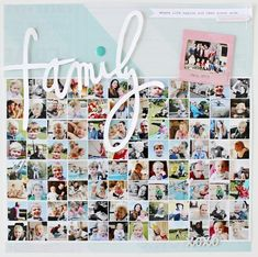 Colours of B: how to get 97 photos on one page ... BIG FAMILY .. inspired by Stephanie Bryan