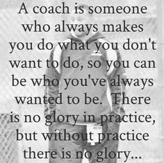 A coach is someone who always makes YOU do what YOU don't want to do, so YOU can be WHO YOU've always wanted to be. There is NO glory in practice, but without practice there is NO glory !! #martialarts #balance #movement #fitness #focus #discipline #training