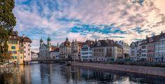 Les quais de Lucerne 1  City and architecture photo by krigou http://rarme.com/?F9gZi
