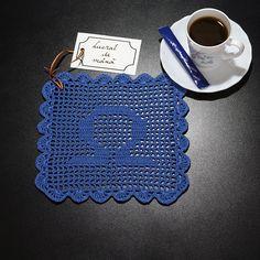 Șervețel Decorativ din Dantelă – BALANȚĂ albastru · HAV-A. Libra, Blue, Virgo, Libra Sign, Virgos, Balance Sheet, Weight Scale, Scale