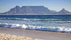 A general view of the Table Mountain and the city of Cape Town is seen on April 2010 from Blouberg beach on the outskirt of Cape Town. Table Mountain Cape Town, Empty Pool, Climate Change, Beautiful Places, Africa, City, World, Beach, Water