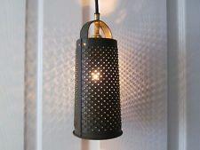 Upcycled Rustic Primitive Grater Metal Lamp ~ Vintage Industrial Lighting