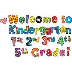 Welcome Kindergarten, 1st, 2nd, 3rd, 4th, 5th Grade Poppin' Patterns Punch-Out Phrases, CTP2128