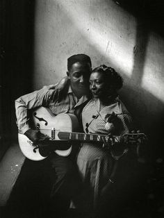 Blues legend Muddy Waters and his wife Geneva Morganfield circa 1930s-early 1940s. Waters got his start during the Great Depression when Alan Lomax and John Wesley Work III, from the Library of Congress, encouraged him to record and perform professionally.