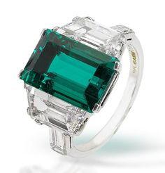 A fine emerald and diamond ring, by Bulgari