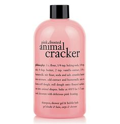 Philosophy - Pink Frosted Animal Cracker Shampoo, Shower Gel & Bubble Bath