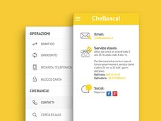 Chebanca App Contact Page