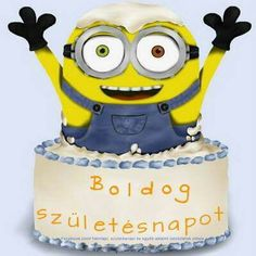 Minions, Happy Birthday, Character, Happy Brithday, The Minions, Urari La Multi Ani, Happy Birthday Funny, Minions Love, Lettering