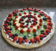 Luscious layers fruit pizza