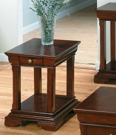 Jofran 299-3 - Regal Cherry End Table with a Shelf and Drawer | Sale Price: $278.30