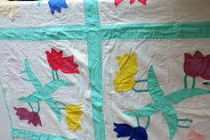 Antique Vintage Applique Quilt Pinwheel Double by bellafabric, $67.00