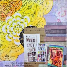 Kraze of MJ: Tattered Tangles 'Things I Love' layout - #tatteredtangles #tatteredangelspaint #gypsymoments
