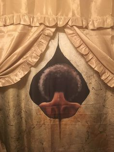 Love the shower curtain! Thanks for sharing an image of it with us. You took it and really hooked that thang up. Going to have to share this with the artist Jerome T. White....