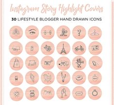Instagram Story Highlights Cover Icons Set 30 Instagram