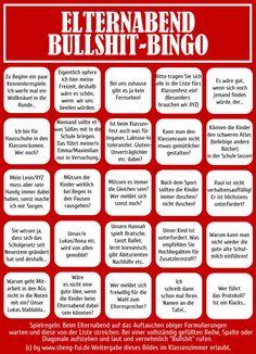 Bullshit-Bingo-Elternabend