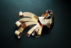 Mod vintage 50s sterling silver with a rose gold vermeil by VezaVe