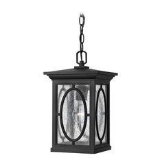 Hinkley Lighting LED Outdoor Hanging Light with Clear Glass in Black Finish | 1492BK-LED | Destination Lighting