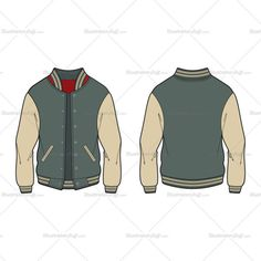 A Varsity Jacket is originally known as American Baseball Jacket. This is a detailed vector illustration of the Varsity Jacket and very easily editable with a v