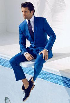 I will own a wardrobe like this SOON!!! I am determined!!  Hugo Boss Suit, E. Marinella Silk Tie, Salvatore Ferragamo Canvas Shoes..