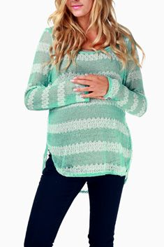 Jade Striped Maternity Sweater - love these clothes - need to remember for when we're expecting!