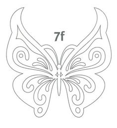 Butterfly stencil or embroidery patterns more – Artofit Butterfly Stencil, Butterfly Template, Butterfly Pattern, Butterfly Art, Crown Template, Butterfly Mobile, Heart Template, Flower Template, Kirigami