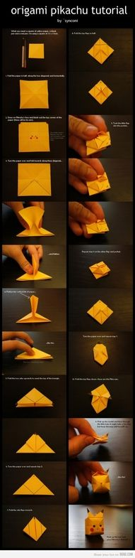 *Origami Pika.. Who needs swans and birds and flowers when there is this!* definitely going to make this :DD ;DD