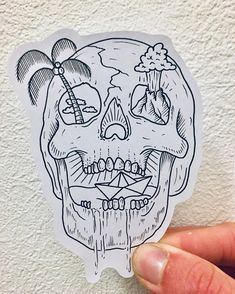 "FLASH ADDICTED on Instagram: ""▫️by @whitelandstattoo 🇬🇧Newquay, UK📍 - ▫️Send yours to flash.addicted.submission@gmail.com #art #artist #artsupport #artwork #artoftheday…"" Kunst Tattoos, Skull Tattoos, Black Tattoos, Bone Tattoos, Sleeve Tattoos, Flash Art Tattoos, Tattoo Sketches, Tattoo Drawings, Skull Sketch"