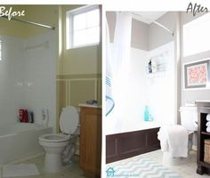 {Beautiful DIY Bathroom Makeover!}