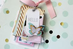 Notes & Things Tag Mini Album by Adrienne Alvis for Crate Paper