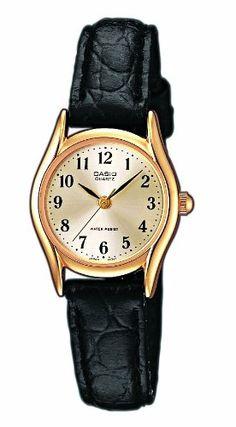 Casio Damen-Armbanduhr Analog Leder schwarz LTP-1154Q-7B2EF: Amazon.de: Uhren