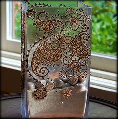 Henna Decor - candle holder with Swarovski crystals by Henna Bee, via Flickr