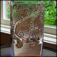 Henna Decor - candle holder with Swarovski crystals by Henna Bee, via Flickr
