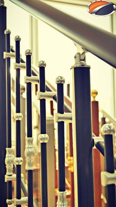 Akos 100 Series Round Railing Systems in Anodizing Black Color by www.akossystem.com #aluminium #rallings