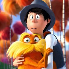 The Once-ler & the Lorax The Lorax, Kid Character, Character Design, Pixar, 100 Day Of School Project, Art Jokes, Cute Bedroom Decor, Disney And More, How To Show Love