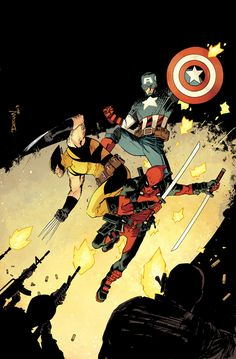 Cap, Wolverine and Deadpool