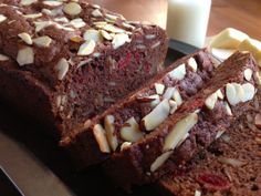 Chocolate Cherry Almond Amish Friendship Bread in crockpot meals to make tortillas amish bread bread recipes Friendship Cake, Friendship Bread Recipe, Friendship Bread Starter, Amish Friendship Bread, Amish Bread Recipes, Baking Recipes, Dessert Recipes, Sourdough Recipes, Dutch Recipes