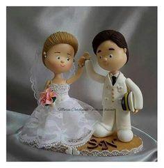 Noivinho militar #casamento #aniversário #biscuit #decoração #casório #festa #amor #Toposdebolo#topodebolopersonalizado ♥ Orçamentos cacauphn@hotmail.com ♥ Watsap 11 984775720 ♥ www.biscuitdacacau.com.br ♥ Feito com carinho!